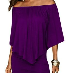 Dresses & Skirts - bodycon off shoulder dress